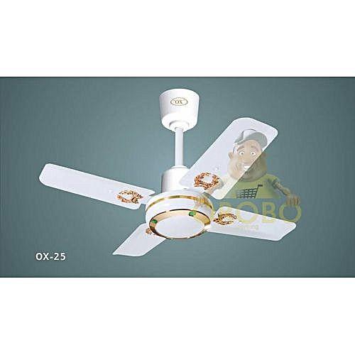 Ox Ox 25inch Short Blade Ceiling Fan - White