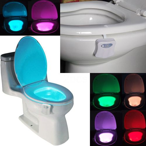 8 Colors Smart Toilet Night Light Seat Sensor Auto Lamp