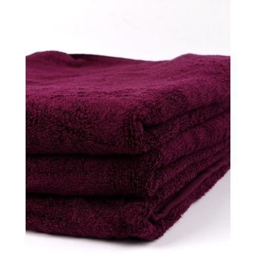 Set Of Three - Bath Towel - Wine