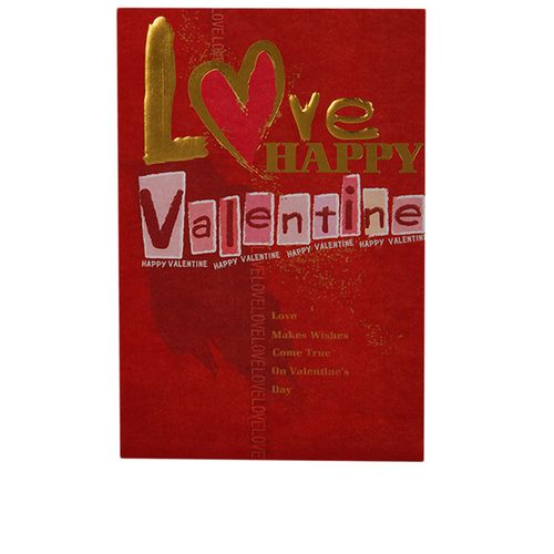 Pack Of 6 Love Happy Valentine Card