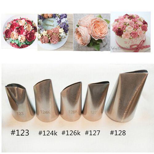 5Pcs/Set Stainless Steel Nozzle Set Cake Decorating Tips Set