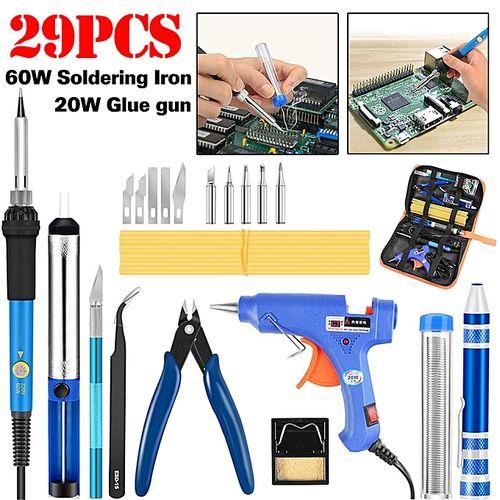 60W Electric Soldering Iron Welding Hot Melt Glue Gun Hand Tool Sets 110V/220V