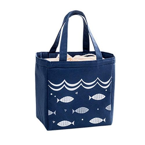 Eleganya Women Cute Cartoon Fish Printing Practical Waterproof Insulation Lunch Bag