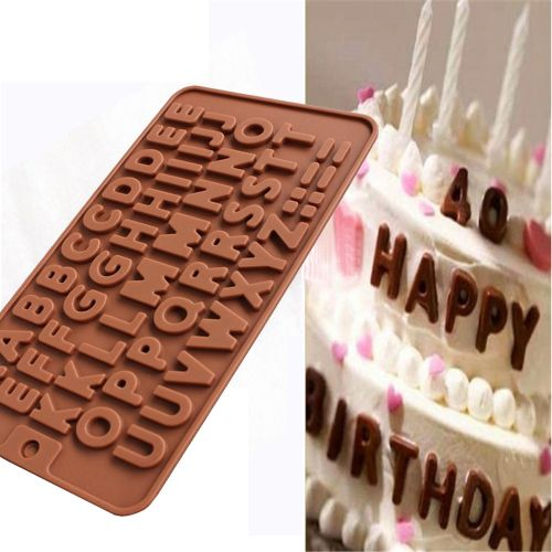 Home Shop In Doxiyn 26 Letter Silicone Chocolate Cake Mold Mould Crafts Cookie Candy Ice Cube