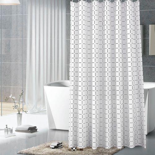 Bathroom Curtains Polyester Waterproof Blackout Bathroom Shower Curtain With Hook Waterproof Bathroom Curtain