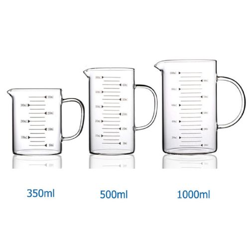 Glass Measuring Cup With Handle Scale Milk Tea Cup