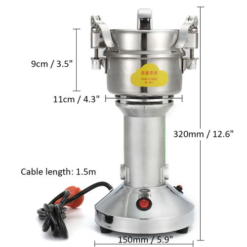 300g 220V 1400W Herb Grain Grinder Cereal Mill Flour Powder Machine