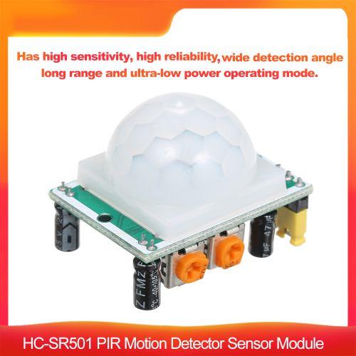 HC-SR501 PIR Motion Detector Sensor Module Wide Angle Long