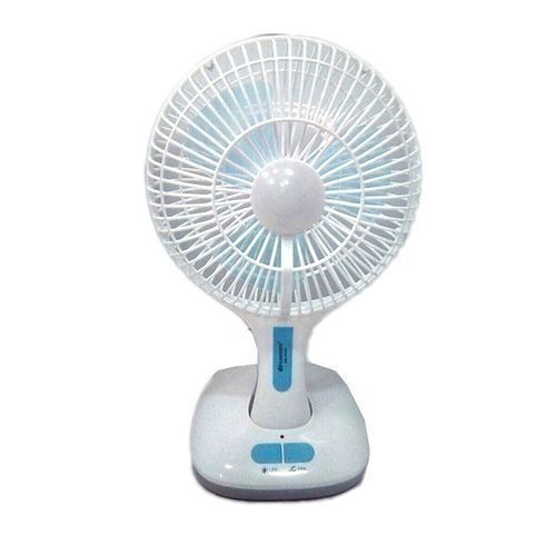 Rechargeable Table Fan With USB And LED Light