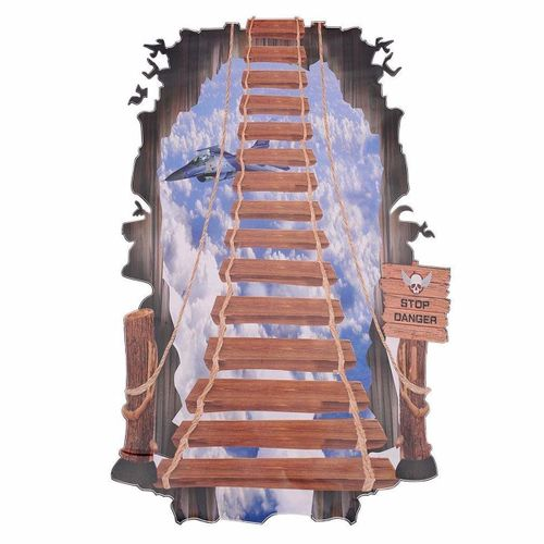 Removable Stairs Ladder Quotes Bathroom Wall Sticker Decals Vinyl Art DIY Decor