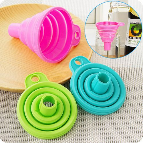 Silicone Adjustable Funnel Kitchen Tool Tableware