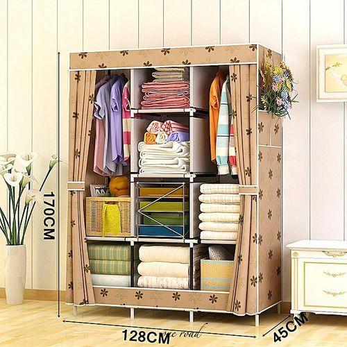 67-Inch Portable Wardrobe Storage Fabric Wardrobe Storage Rack Storage Rack Bedroom