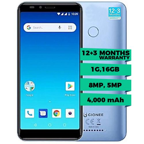 M6 Mini 5.45-Inch HD (1GB RAM + 16GB ROM) 5MP Selfie + 8MP Rear Camera, 4000mAh Smartphone - Blue