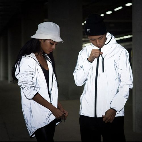 XXXXXL XXXXL Men's 3M Full Reflective Jacket Light Hoodies Chaqueta Hombre Hip Hop Waterproof Chaqueta Reflectante Hombre Coats Man CUI