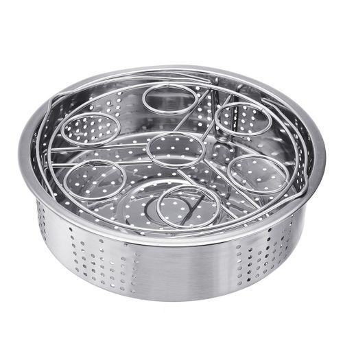 Kitchen Steamer Basket + Egg Steamer Rack Divider Accessories For Instant Pot