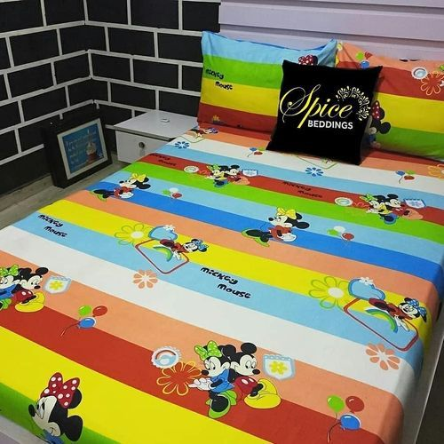 Children Mickey Bedsheet With Pillow Cases