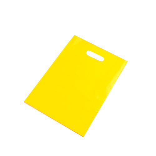 100pcs Yellow Custom Plastic Bag Gift Packaging/shopping Bag/ Handle Plastic Bag