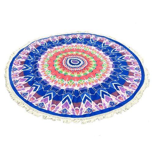 Round Hippie Tassel Tapestry Beach Throw Towel Yoga Mat Bohemian