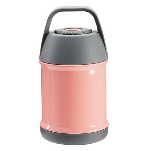 450ml Stainless Steel Insulated Lunch Box Container Soup Mug Food Handy Bottle # Pink
