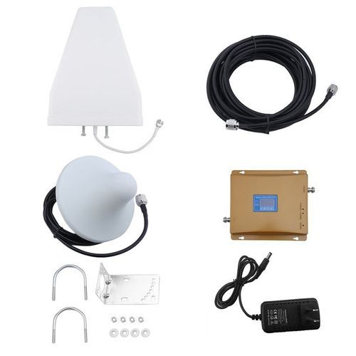 TA-900Mhz/2100MHZ GSM/4G Dual Band Mobile Phone Signal Amplifier Booster Repeater White