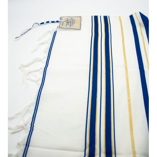Tallit Prayer Shawl Talit Blue And Gold With Talis Bag XLarge
