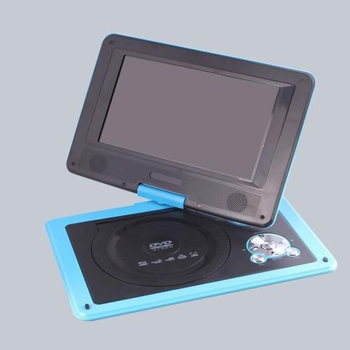 "AU 9.8"" Portable DVD Player CD DivX EVD MP4 MP3 JPG Swivel USB SD W/ 300 Games Blue"