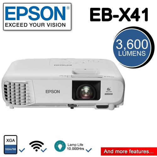 EPSON Eb-x41 (3,600 Lumen) WiFi Enabled Projector