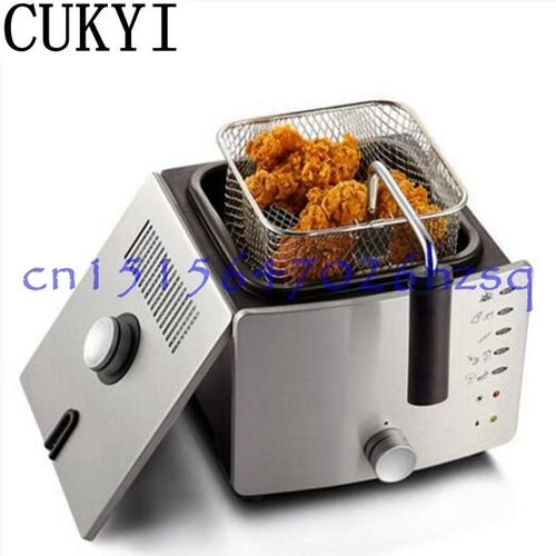CUKYI 220V 900W Constant Temperature Electric Frying Machine Multifunctional Household Smokeless Commercial Deep Fryers