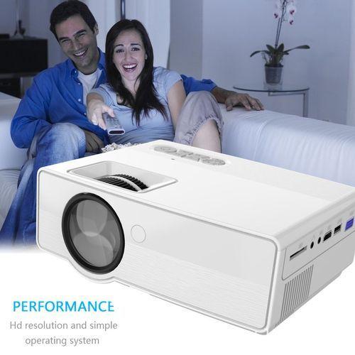 800 Lumens 1080P HD Portable Projector 3D LED Multimedia USB Theater Cinema UK Plug