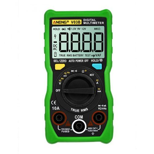 An-V03B High-Precision Intelligent Gear Recognition Multimeter Electrician Green