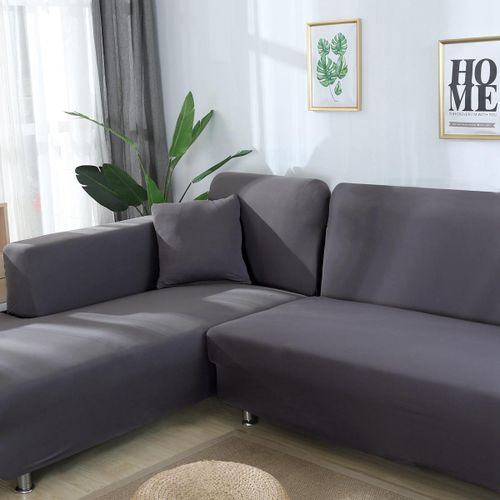 Sectional Sofa Slipcover Couch Cover, Stretch Fabric Cover