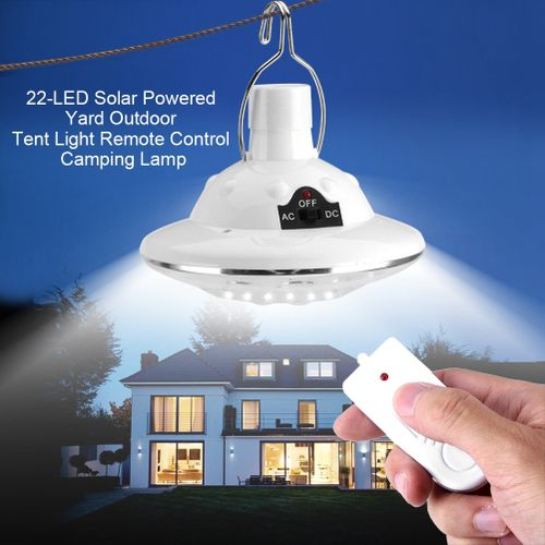 Portable Solar Powered 22 LED Hanging Tent Light Bulb Outdoor Camping Yard Remote Control Lamp