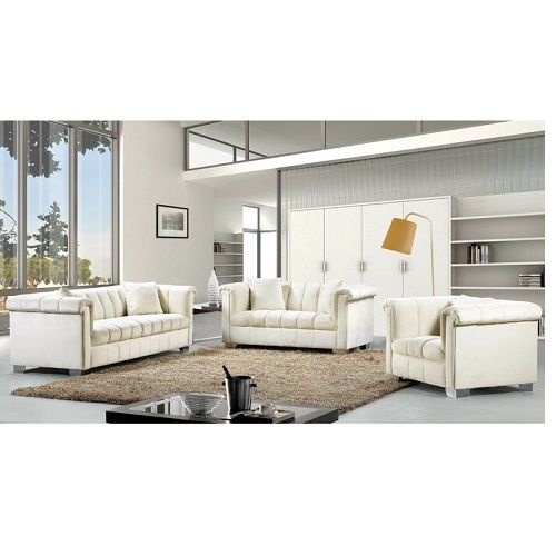 HENRIETTE BEIGE SOFA SET (FREE DELIVERY WITHIN LAGOS)