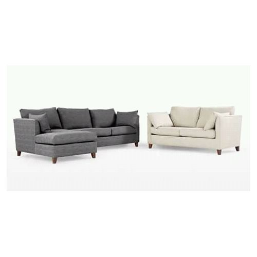 5-SEATER GRAY + CREAM DOUBLE SEATER FABRIC SOFA SET - Red + Free Ottoman (Delivery To Lagos Only)