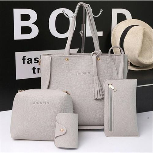 4pcs Women Leather Handbag Shoulder Bag Tote Purse Messenger Travel Satchel Set