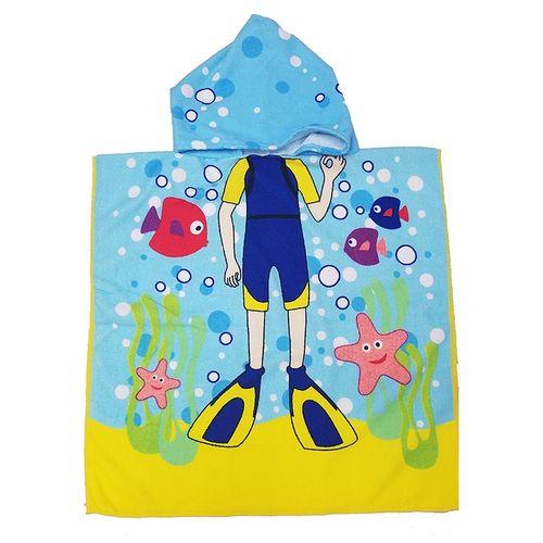 New Children Bath Towel Baby Sandy Beach Hooded Bathrobe Baby Towel Kids Bathrobe