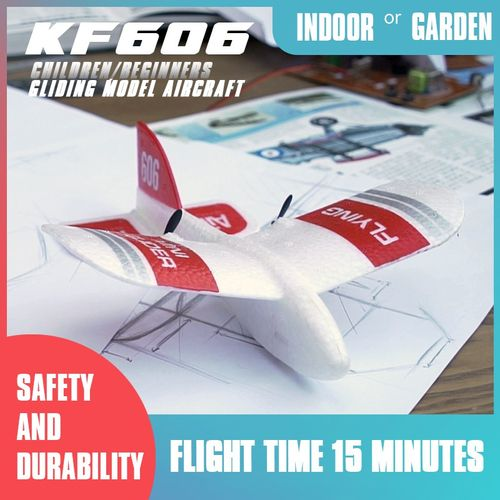 KF606 2.4Ghz 2CH EPP Mini Indoor RC Glider Airplane Built-in Gyro