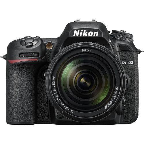 D7500 Professional DSLR Camera With AF-S DX NIKKOR 18-140mm F/3.5-5.6G ED VR Lens - Black