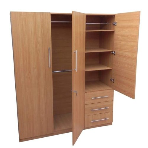 Standard 3 Doors Wardrobe. 'ORDER NOW AND GET A FREE OTTOMAN'(Delivery Only In Lagos)