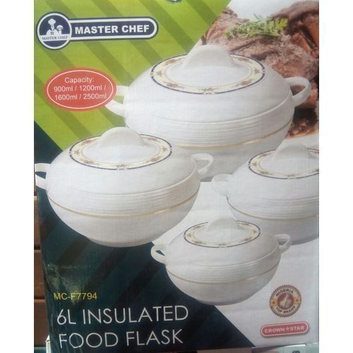 Insulated Serving Food Flask - 4 Pieces Set-3Liter