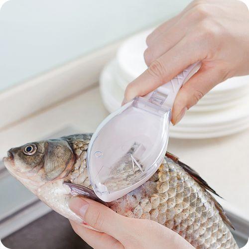 1pcs Fish Meat Tool Kitchen Gadgets Household Scale Shaver-Random Color