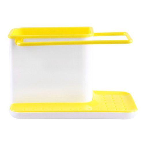 Plastic Racks Organizer Caddy Storage Kitchen Sink Utensils Holders Drainer Yellow