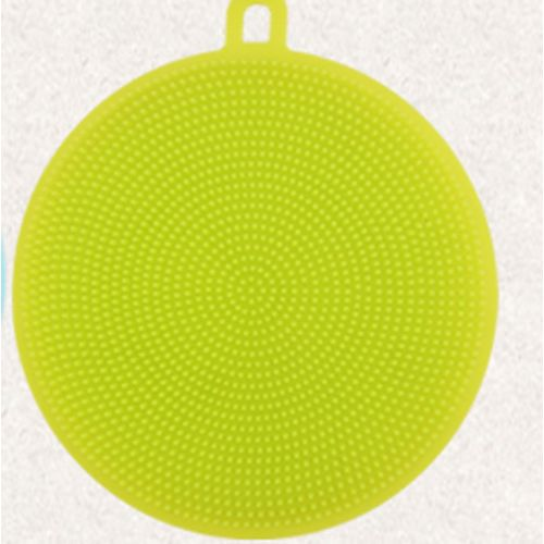 Watermalend Antibacterial Silicone Cleaning Brush Pad Dish Fruit Scrubber Clean Tool Green