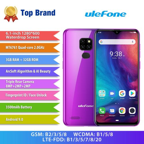 Note 7P Smartphone 6.1 Inch 3GB+32GB Android 9.0 3500mAh Fingerprint 4G Mobile Phone