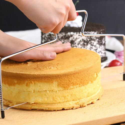 Cake Cutter, Slicer Bread Slicer Cutter Birthday Cake Stainless Steel Adjustable Double-wire For Baking Decorating Tool