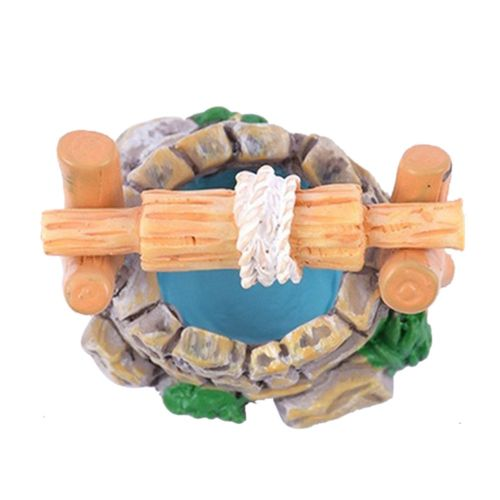 Crab Kingdom Micro Landscape Wooden Pile Pool Grass Water Well Flow