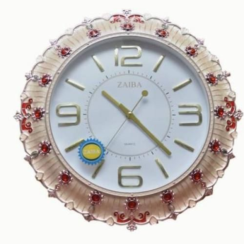 Wall Clock Decoration, Combination Of Silver, Wine And White