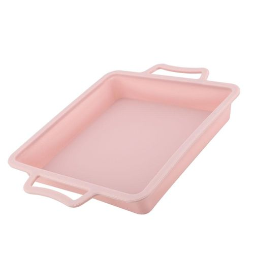 28*28*4cm Square Shape 3D Silicone Cake Mold Sala Pan Meat Baking Tools For Bakeware