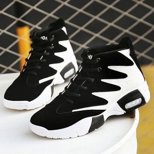 Elegant Designer Athletic Ankle Sneakers V2- Black