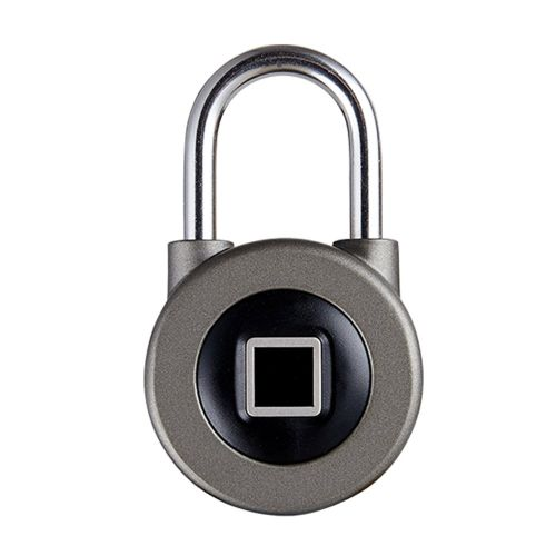 Smart Fingerprint Keyless Anti-Theft Padlock Application For IOS Gray